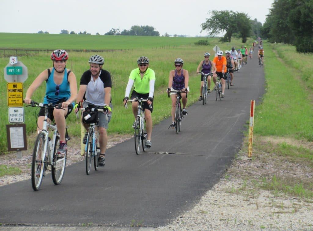 Rolling toward Herndon at Iowa Hwy 141 crossing
